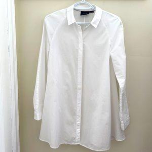 Maeve White Cotton Mini Dress/ Blouse Size 2